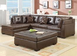 furniture fantastic u shape modern cozy black leather sofa