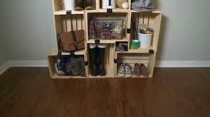 How To Make Wooden Shelving Units by How To Build A Shelving Unit With Crates Youtube