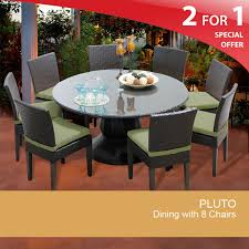 60 inch round patio table outdoor wicker dining table