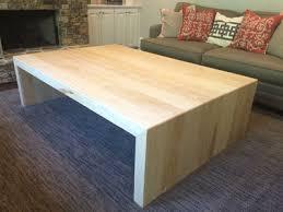 waterfall coffee table wood custom ash lumber wood waterfall coffee table cd natural