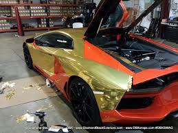 gold chrome range rover lamborghini aventadoor lp700 gold chrome wrap by dbx aka u201cking of