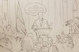 sean spicer liked cnn u0027s sketch of him so much that he kept a copy