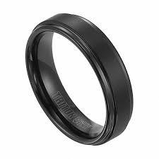 tungsten wedding ring triton s 6 0mm comfort fit groove black tungsten