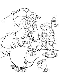 beauty and the beast coloring page disney coloring pages