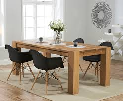 Dining Tub Chairs Madrid 200cm Solid Oak Extending Dining Table With Charles Eames