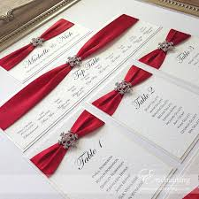 Wedding Invitations With Ribbon The 25 Best Red Wedding Invitations Ideas On Pinterest Red