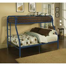 acme limbra queen over queen metal bunk bed black sand walmart com