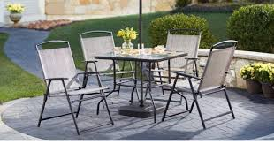 home depot patio table home depot 7 piece patio dining set only 99 includes 4 chairs