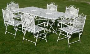 Antique Wrought Iron Patio Furniture by Beautiful White Wrought Iron Patio Furniture Decor Concept 1000