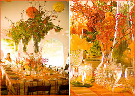 Centerpieces For Thanksgiving Modern Thanksgiving Festive Florals Colorful Details