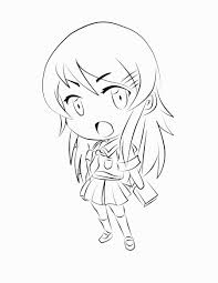 chibi outline coloring pages coloring pages