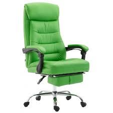 fauteuil de bureau vert fauteuil de bureau ergonomique en similicuir vert avec repose pied