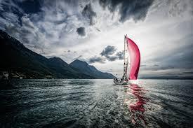 wave sail scarlet boat sailing wallpaper 2500x1664 376938
