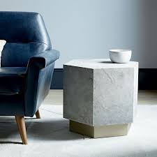 Hexagon Side Table Geo Hex Side Table Slate West Elm