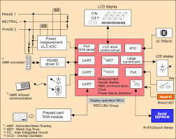 wiring diagram single phase electronic energy meter circuit