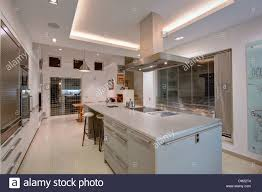 kitchen island extractor extractor above hob in island unit in large modern apartment
