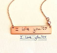 custom handwriting necklace custom handwriting necklace loved ones handwriting jewelry jess