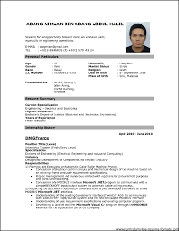 free download professional resume format freshers resume resume format for fresher download pdf best resume formats 47