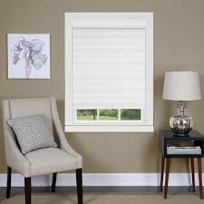 home decorators collection window treatments the home depot celestial sheer white cordless polyester double layered shade 31 in w