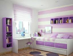 excellent purple girls room design with white learn table and