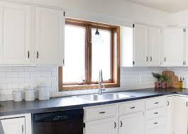 Kitchen Makeovers Photos - black and white farmhouse kitchen makeover the lilypad cottage