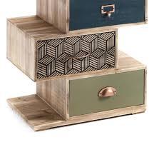 commode en bois kijo multicolore rangement mobilier