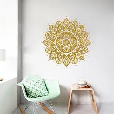 if you had one shot inspirational wall quotes sayings words mandala wall decal vinyl sticker lotus flower boho bohemian decor moroccan pattern yoga studio namaste ornament