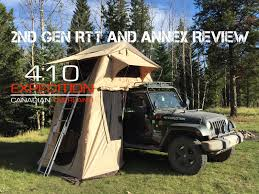 overland jeep tent 410 xco smittybilt 2nd generation rtt and annex setup u0026 review