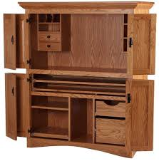 Corner Computer Armoire by Furniture Solid Wood Computer Desk With White Accents Best Way