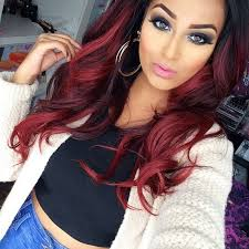 how to put red hair in on the dide with 27 pieceyoutube why not add some long hairextensions buy remy fusion