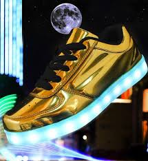 unisex light me up shoes metallic gold led lights rechargeable