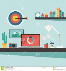 Designer Desk Accessories by Graphic Designer Desk Stock Vector Image 39953281