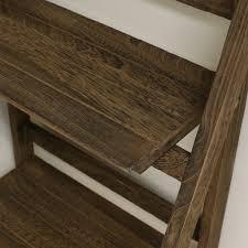 Brown Ladder Shelf 3 Tier Brown Ladder Shelf Display Unit Free Standing Folding Book