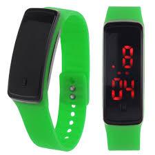 bracelet digital watches images Womens mens silicone band digital led bracelet wristwatch sports