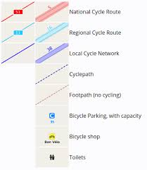 what is a map legend cyclestreets help and documentation