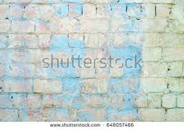 brick wall with blue paint turquoise accent wall with exposed