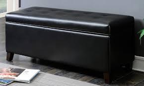 shoe storage ottoman bench groupon goods