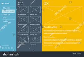 modern minimalistic typography website layout based stock vector