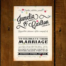 wedding invites vintage confetti wedding invitation by feel wedding