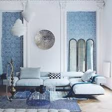 Mimar Interiors Greek Living Room With Built In Bench Seating Love The Blue Wall