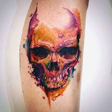 62 awesome watercolor skull tattoo designs by perfect tattooers
