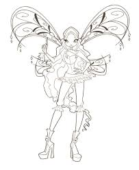 winx club coloring pages chuckbutt com