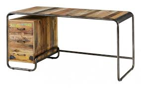 bureau bois recyclé bureau vintage en bois recyclé