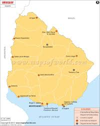 Costa Rica Airports Map Obryadii00 Physical Map Of Uruguay