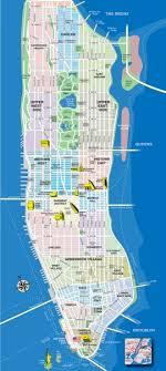 tourist map of new york manhattan new york map new york mappery