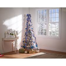 kimball 4 snow frosted winter style pull up tree by