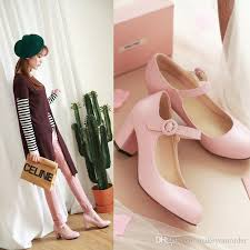 Wedding Shoes Singapore Seller Wedding Shoe High Heel Chunky Heel Small Round Nose
