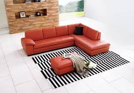 Nicoletti Italian Leather Sofa 625 Pillow Back Italian Top Grain Leather Sectional Sofa U0026 Ottoman