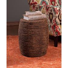 Seagrass Furniture Camotes Seagrass Brown And Natural Stool Ottoman 67208 The Home