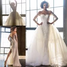 pnina tornai wedding dresses pnina tornai 2017 modest split mermaid wedding dresses with